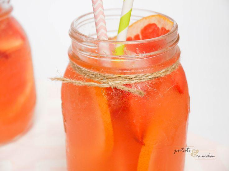 Cocktail au pamplemousse & fraise
