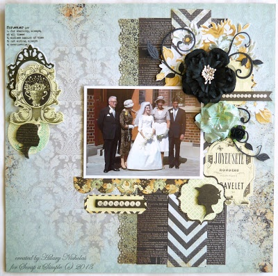 Layout with Kaisercraft's 75 Cents, created by Hilary Nicholas