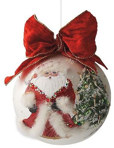 """Ornament hand made by Natalie Sarabella - 6"""" glass"""
