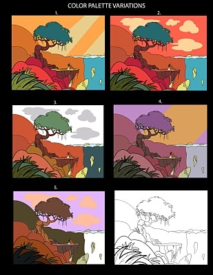 A series of illos. which I did for some Karadi Tales animation development work