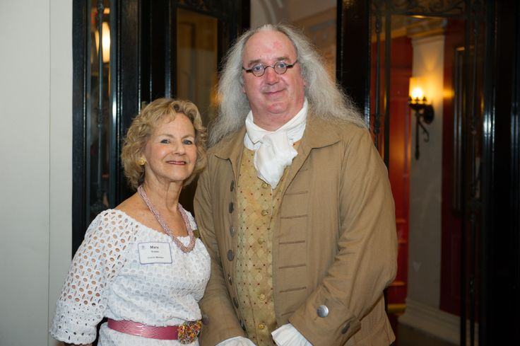 Penn Club President, Susan Marx with none other than Penn's Founder, Ben Franklin at the 20th Anniversary Celebration.