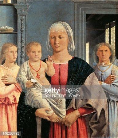 The Madonna Of Senigallia By Piero Della Francesca Oil On Panel ...