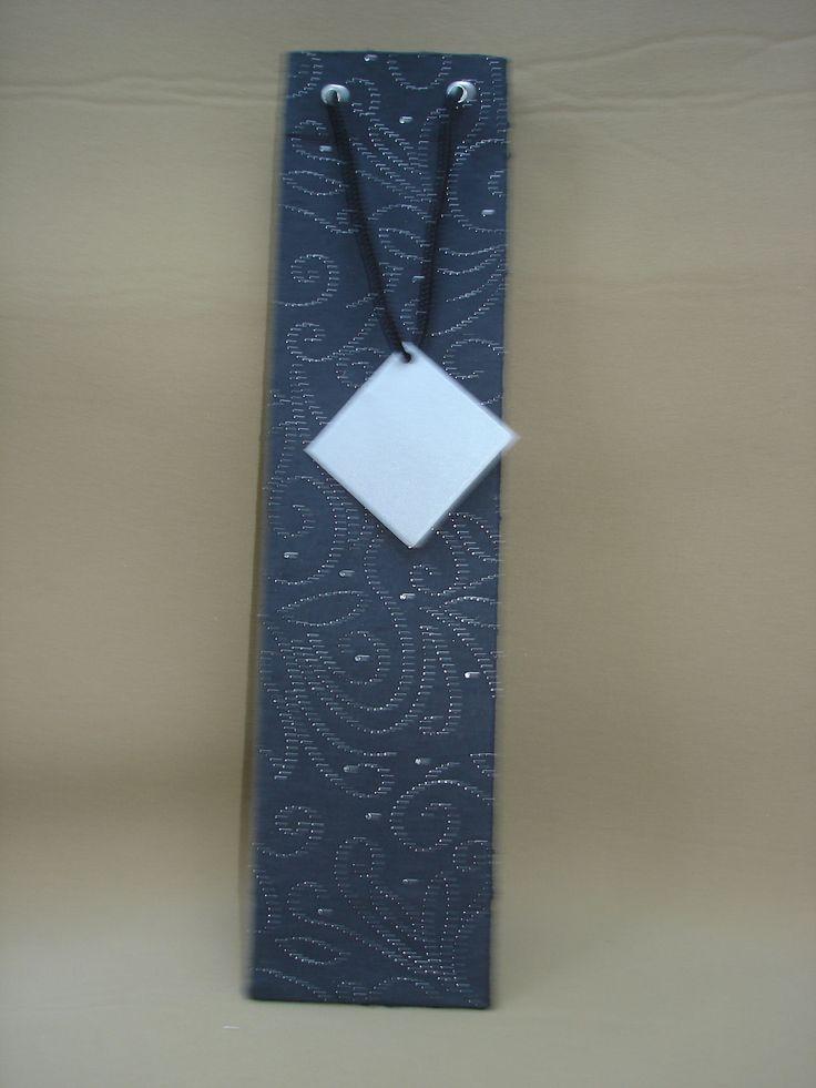 Black Embossed Wine Bag  (28)
