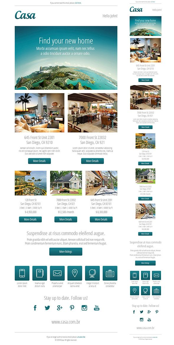 23 best images about restaurant email newsletters on for Realtor newsletter templates
