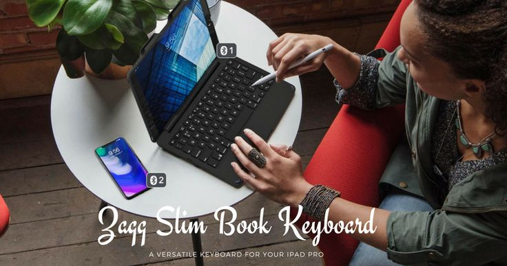 Looking for a cool gift for your loved ones this holiday? Check out the Zagg Slim Book keyboard for the 10.5 inch iPad Pro.