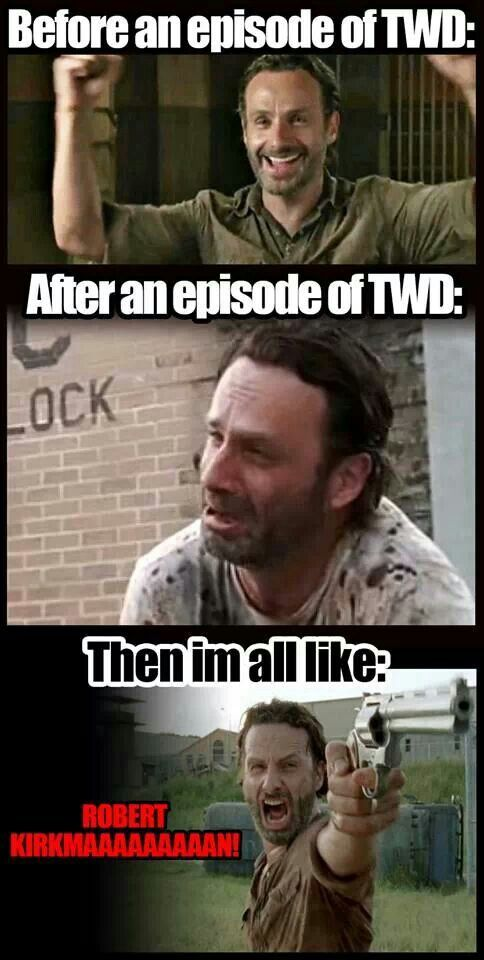 This is me. Season 5 has been so disappointing. The only good moment was the Daryl and Carol reunion on the premiere episode. Why do writers do this?