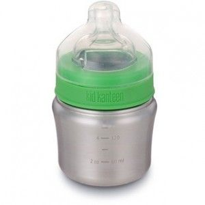 Made from 18/8 food-grade stainless steel that doesn't retain flavors, is free of BPA, phthalates, and other toxins. The contoured, hourglass shape is designed for small hands, and the wide mouth allows for easy cleaning, pouring and filling. Slow flow teat included for ages 0-6 mths.
