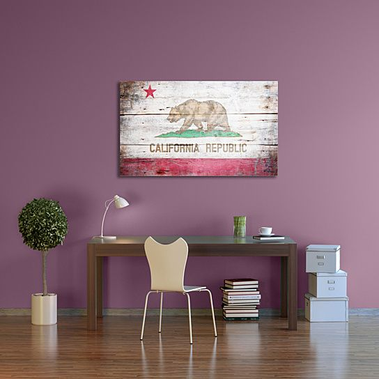 Buy Vintage California Flag Gallery Wrapped Canvas Art by PingoWorld on Dot & Bo