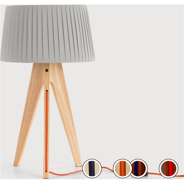 Miller Table Lamp, Natural Wood and Orange from Made.com. Neutral. Express delivery. Designed with a tripod base, we've updated this classic style a..