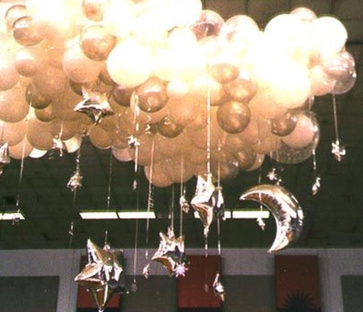 227 best images about cloud party on pinterest baby for Balloon cloud decoration