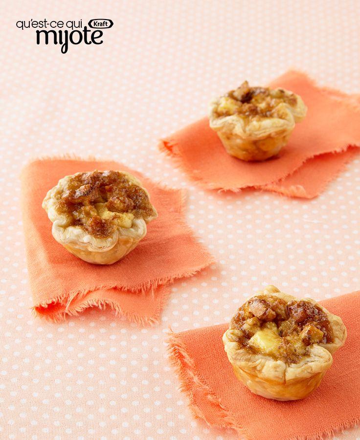 Tartelettes à l'érable et aux noix #recette
