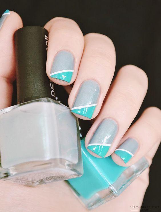 Diseños de uñas fáciles http://beautyandfashionideas.com/disenos-unas-faciles/ Easy nail designs #Beauty #Belleza #diseñosdeuñas #Diseñosdeuñasfáciles #Nails #Nailsdesign #Tipsdebelleza #uñas