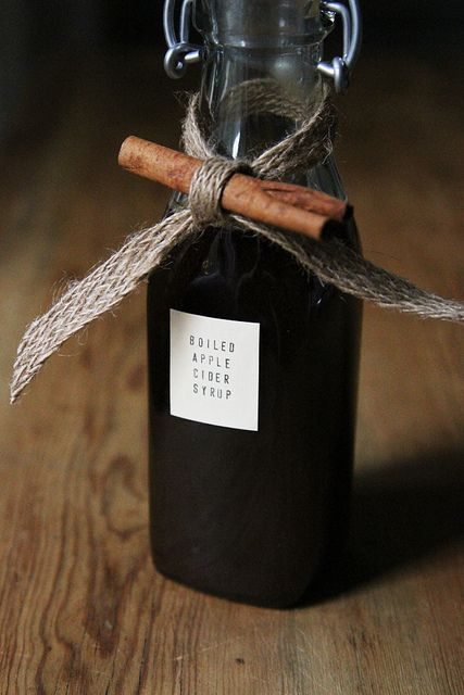 Packaging...    This boiled apple cider syrup sounds delicious and easy to make. What a fun hostess gift idea.