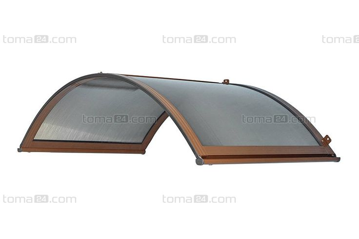 Arched Door Canopy | Arch Door Canopy Classica 200 x 90 x 48 cm, Cellular Polycarbonate ...
