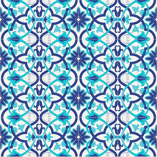 Azulejo. could maybe make our own repeating stencil like this