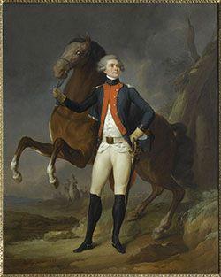 Marquis de Lafayette, officier et homme politique français. Nommé général par Washington, Lafayette a joué un rôle décisif aux côtés des Américains dans leur Guerre d'indépendance contre le pouvoir colonial britannique et en particulier lors de la victoire de Yorktown le 19 octobre 1781.
