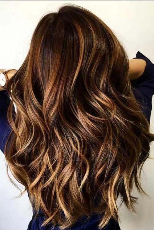 El mejor cabello largo con Balayage para damas