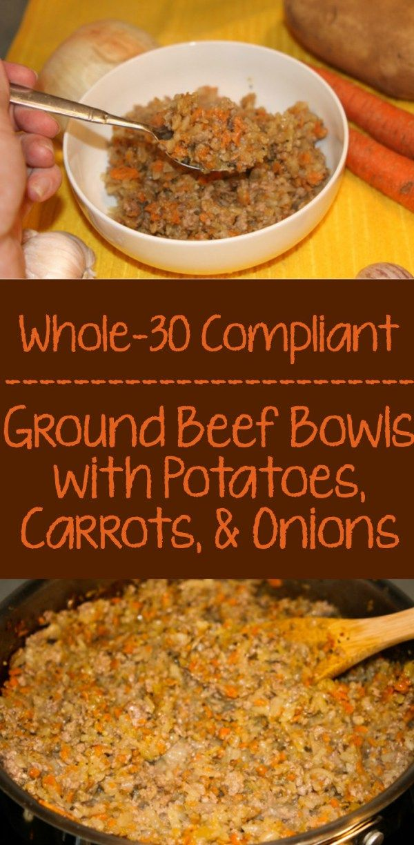 Whole30 Ground Beef Bowls