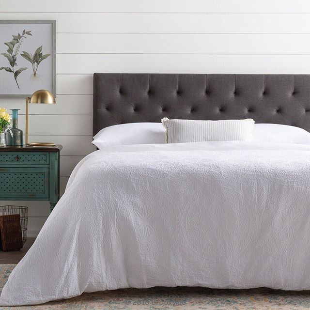 Black Tufted Headboard This Would Look Beautiful In Any Farmhouse