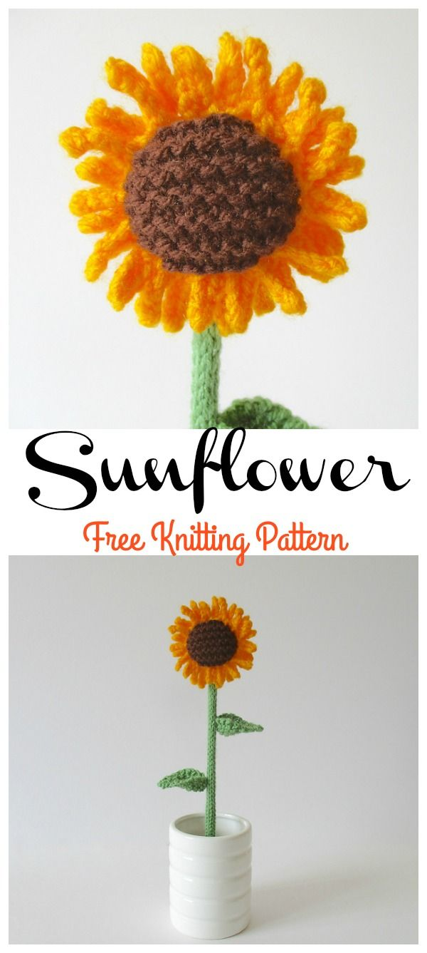 Best 25 knit flowers ideas on pinterest knitted flowers free i think anyplace looks better with flowers this sunflower free knitting pattern lets you to decorate your home with a few beautiful sunflowers bankloansurffo Gallery