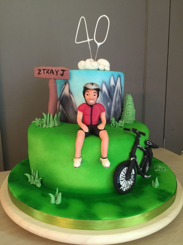 A busy week this week! This 40th birthday cake for a keen cyclist a wedding cake that I can't post until tomorrow wedding invites wedding cake tasters and a wedding showcase at The Manor Hotel on Sunday! #cycling #scottbike #cyclist