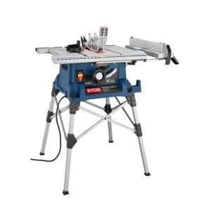 Ryobi 10 in. Portable Table Saw with Stand-RTS21 at The Home Depot