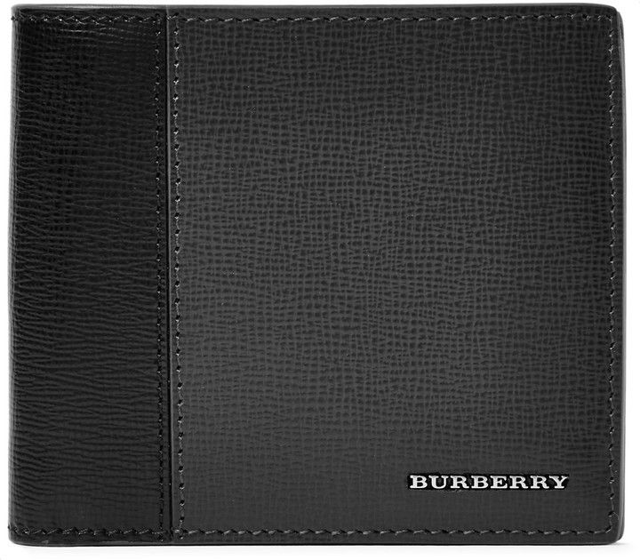 Burberry Two-Tone Cross-Grain Leather Wallet