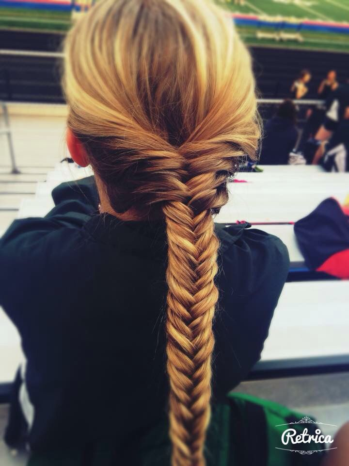 Braided hair at a track meet