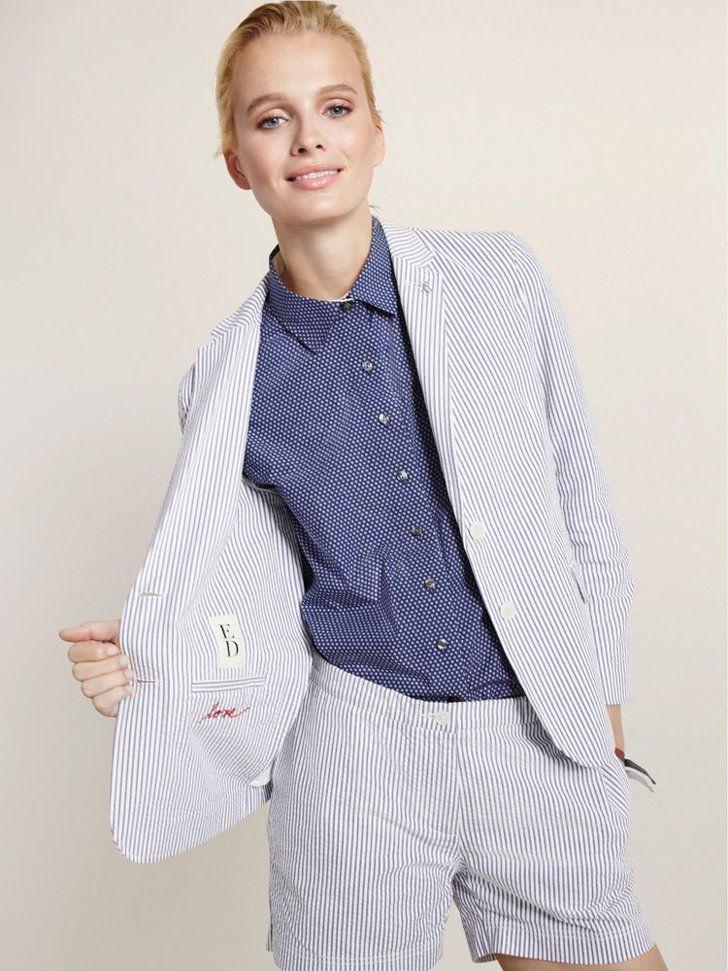 Pin for Later: 11 Stylish Pieces From Ellen DeGeneres's New Line That'll Make You Smile ED Seersucker Jacket ED Seersucker Jacket ($195)