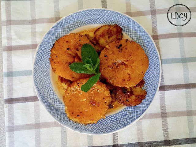 LOS DOMINGOS COCINO YO: PLÁTANO Y NARANJA FRITOS/Fried banana and orange