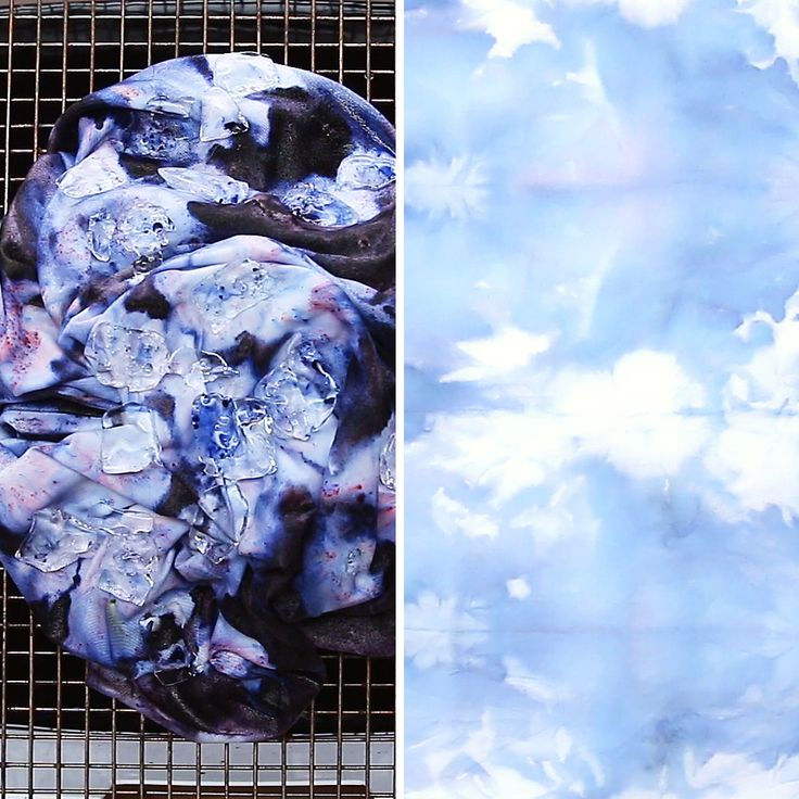 Ice Dye Bedding Makeover