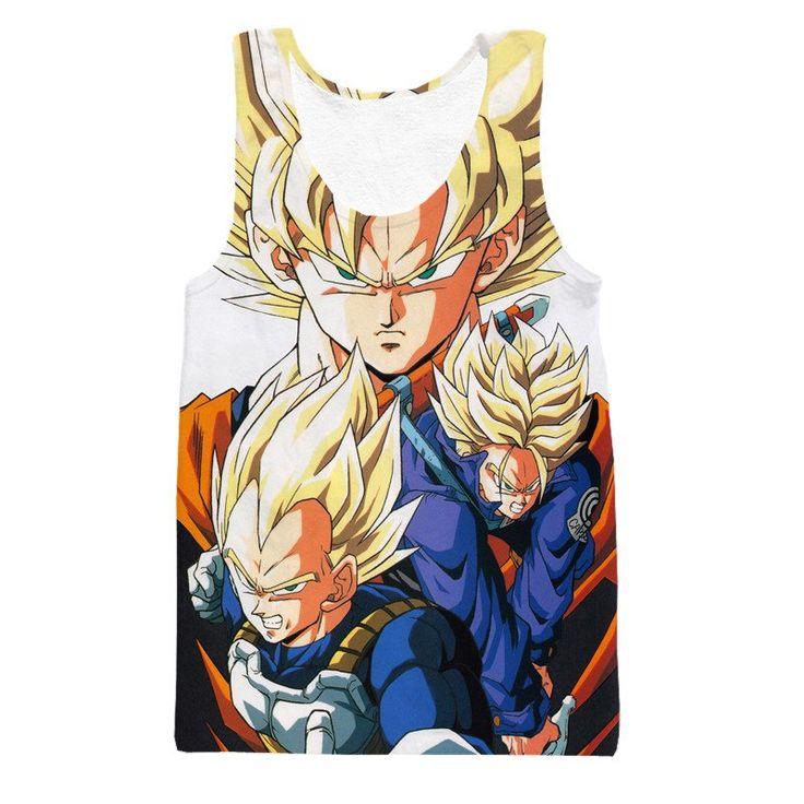 Dragon Ball Goku Vegeta Trunks Super Saiyan Power Heroes Cool Trending Design Tank Top  #Dragon Ball #Goku #Vegeta #Trunks #Super Saiyan #Power Heroes #Cool #Trending Design Tank Top