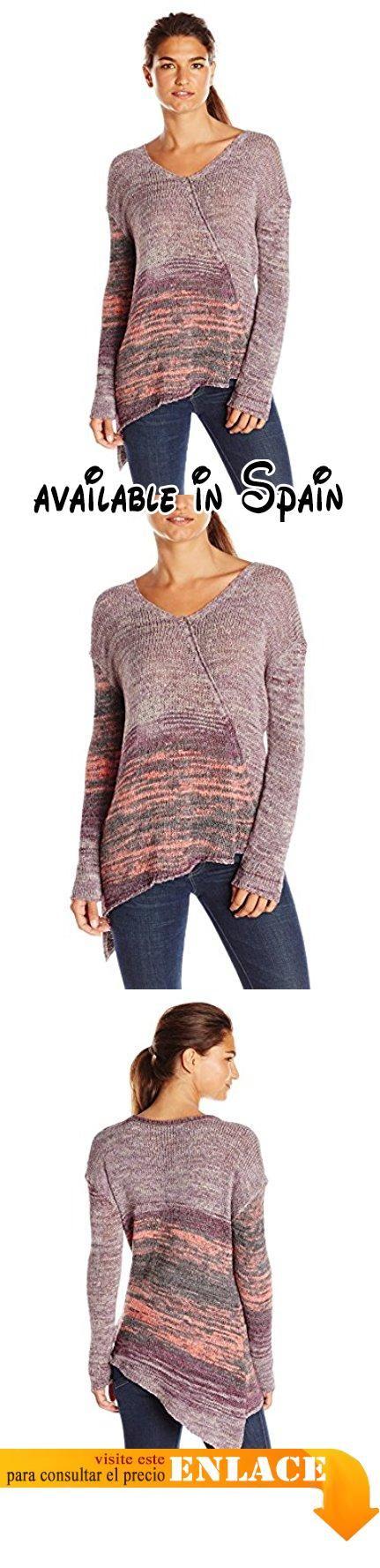 prAna Women's Vignette Sweater, Purple Tart, Small. El jersey de viñeta es un efecto de funky, off-kilter Wrap con un profundo, pico femenino, Asimétrico Dobladillo y mangas hacia atrás de gran comodidad y estilo. 60% Acrílico, 40% Nylon. Multicolor cinta jersey hilo. Cuello en V con dobladillo asimétrico frontal y dobladillo. Ajuste relajado #Deportes #SWEATER