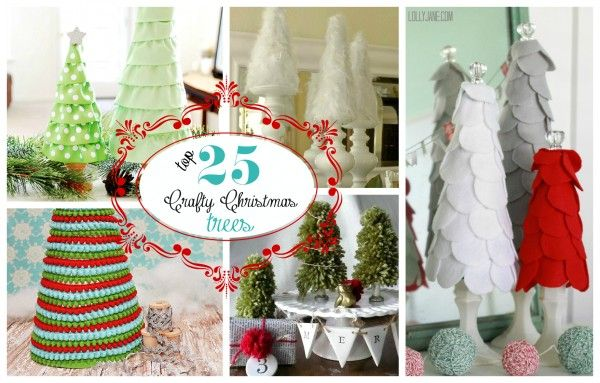 Top 25 Crafty Christmas Trees of 2012 via @Lolly Jane! #christmas #trees