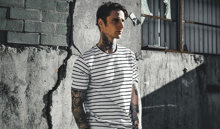 FLINTLOCK TEE WHITE/BLACK STRIPE - AUD $49.95  https://zanerobe.com/product/flintlock-tee-whiteblack-stripe/  #system