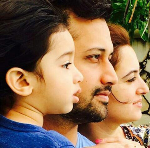 Atif aslam wife and son