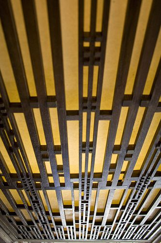 Light grille. Frederick C. Robie House. 1909. Hyde Park, Chicago, Illinois. Prairie Style. Frank Lloyd Wright.