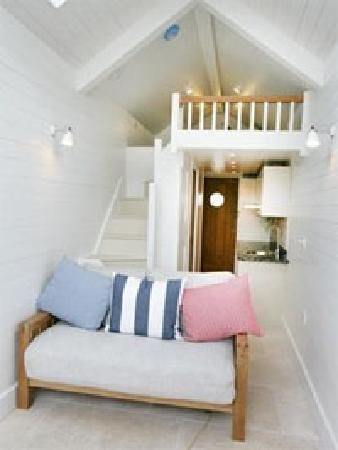 Cool Beach hut  hotel rooms   in Teign crest hotel in Sheldon UK  I may give this a go!