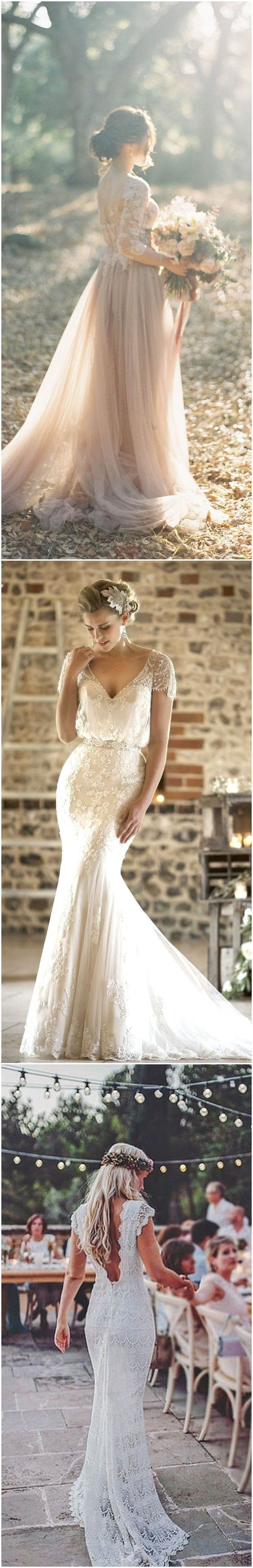 Best 25 vintage wedding dresses ideas on pinterest lace for Romantic vintage lace wedding dresses