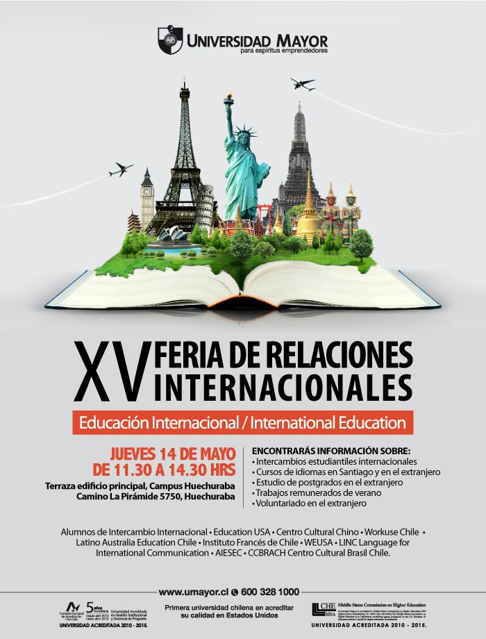 Feria de #RRII #UMayor 2014 Imperdible! #Intercambios #Cuersos #Inglés #Beneficios