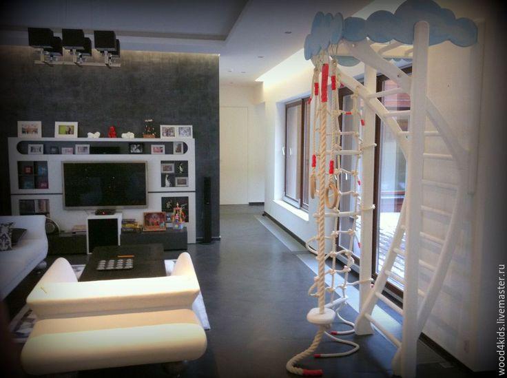 """Купить Спорткомплекс """"Арфа"""" - белый, натуральное дерево, детская комната, детская мебель, спорткомплекс"""