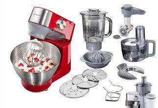 Kenwood Küchenmaschine KM241 Prospero Red Edition, inkl. viel Zubehör im Online Shop von QUELLE Versand