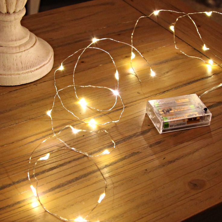 20 Micro LED Battery Lights On A Fine Silver Wire. Theyu0027re Great For