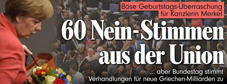 Sondersitzung im Parlament: Bundestag berät über neue Griechen-Milliarden http://www.bild.de/politik/ausland/bundestag/griechenland-bundestags-abstimmungueber-neue-milliarden-hilfen-fuer-griechenland-41825550.bild.html