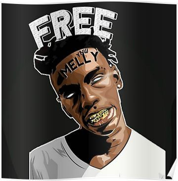 'YNW Melly 'Free Melly'' Poster by TheGravHouse in 2020