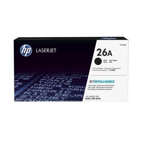 HP 26A toner LaserJet noir authentique (CF226A) pour HP LaserJet Pro M402/M426