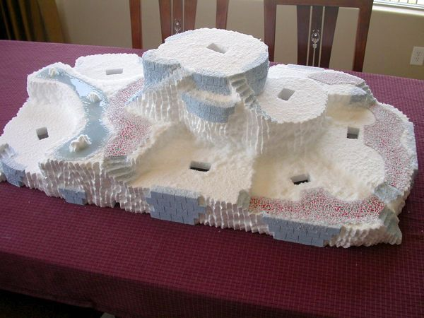 how to build a platform for christmas village - Google Search