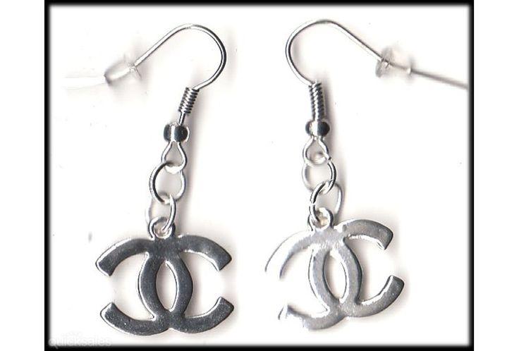 Designer Charm Silver Tone Earrings