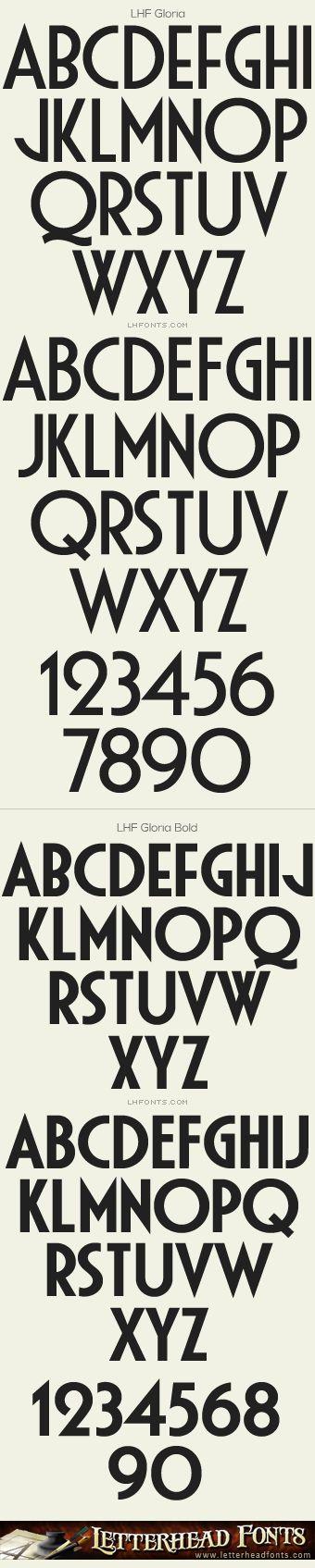 Letterhead Fonts / LHF Gloria font set / Art Deco Fonts