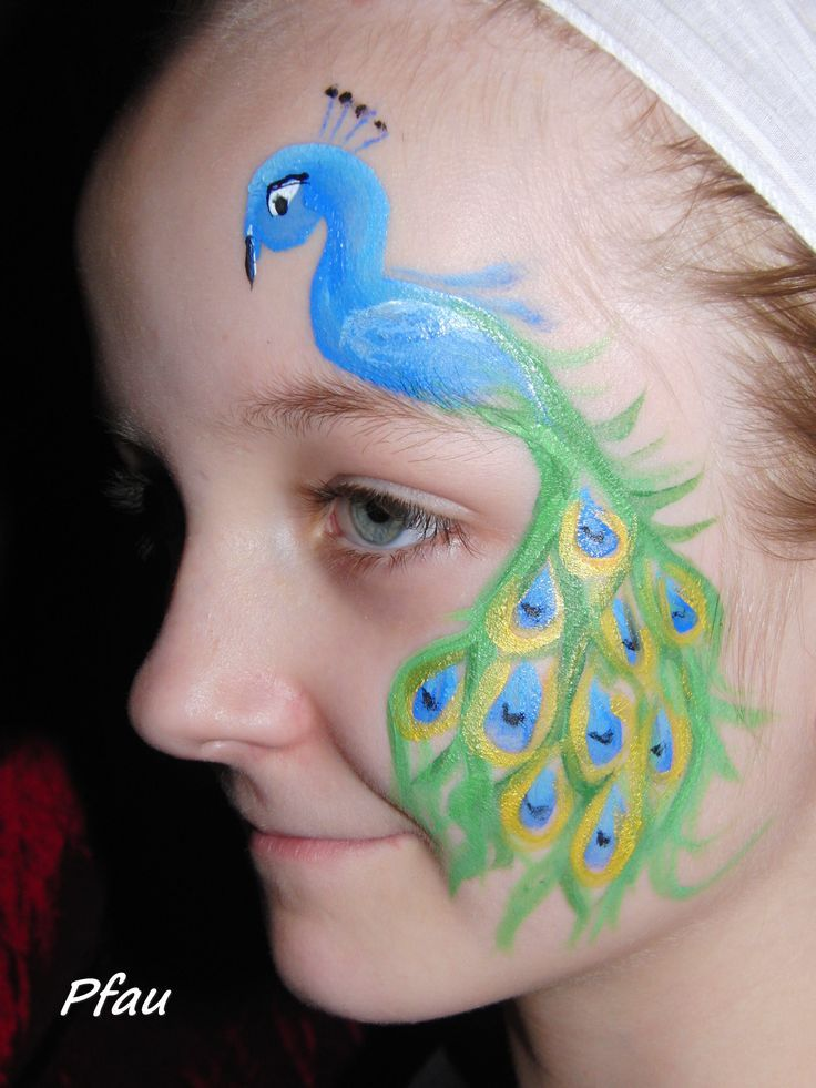 Peacock+Face+Painting | Uploaded to Pinterest
